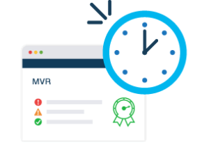 illustration of mvr on website with clock